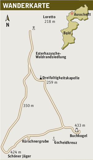 Wanderkarte Buchkogel Aussichtswarte